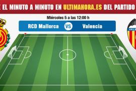 Real Mallorca-Valencia Mestalla, en directo