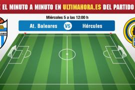 Hércules-Atlético Baleares, en vivo