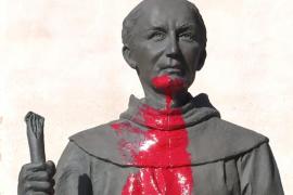 Otro atentado contra Juníper Serra en California