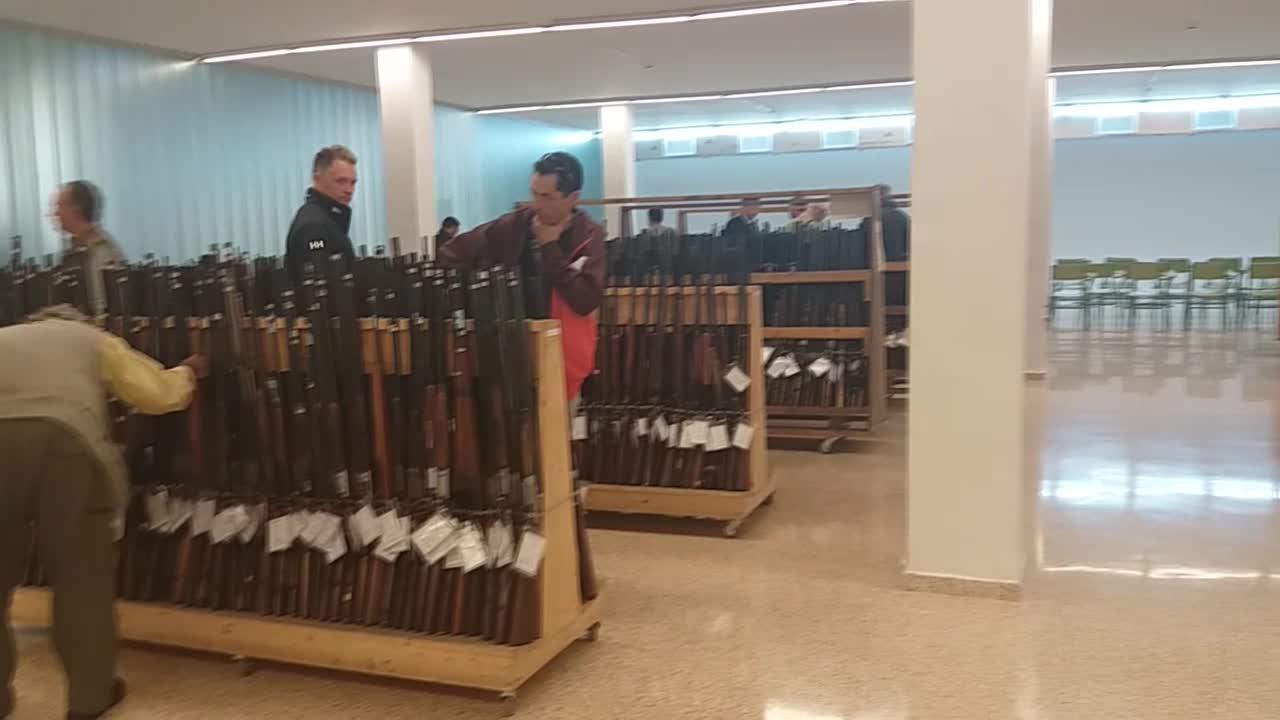 Salen a subasta más de 1.700 armas en Palma