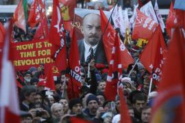 Decenas de miles de comunistas celebran en Moscú el centenario de la Revolución Bolchevique