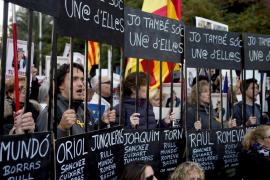 Manifestación en Barcelona bajo el lema «Libertad presos políticos»