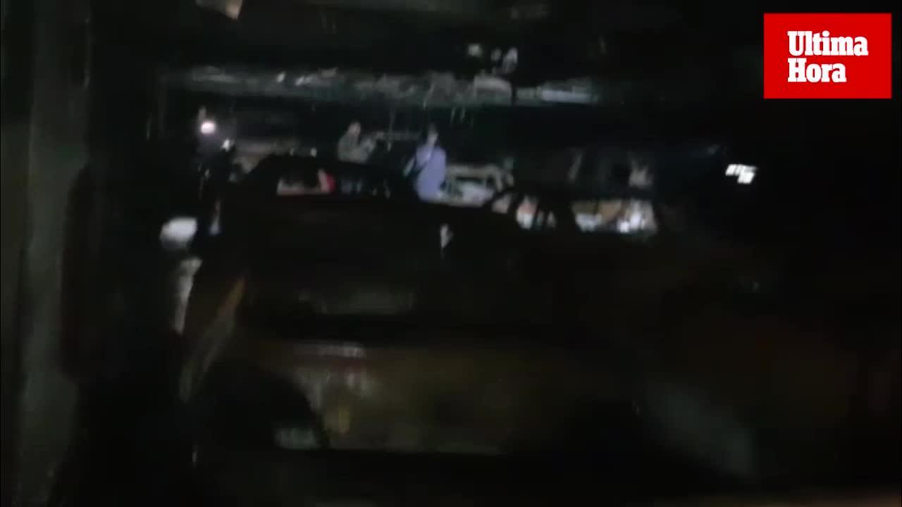 Así quedó el interior del ferry incendiado y desviado a Alcúdia