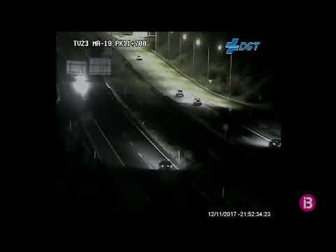 Interceptan a un conductor tras circular unos 10 kilómetros en dirección contraria por la autopista de Llucmajor