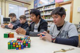 Rumbo a la final nacional de Rubik (Fotos: Marcelo Sastre)