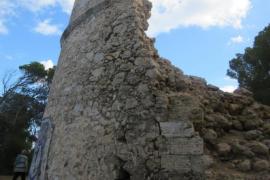 ARCA denuncia el peligroso estado de ruina de la torre de defensa de Capdepera
