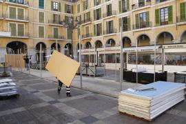 Comienza la instalación de las casetas de navidad en Palma