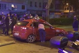 Un joven, herido crítico en un accidente en la calle Manacor de Palma