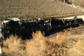 Detenido un camionero que se accidentó y septuplicó la tasa de alcoholemia