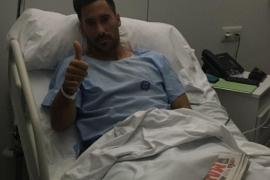 Xisco Hernández, operado con éxito por el doctor Cugat