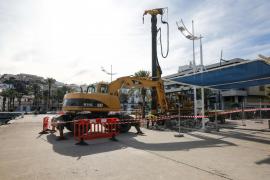 Se inicia la construcción del futuro tanque de tormentas del puerto de Vila
