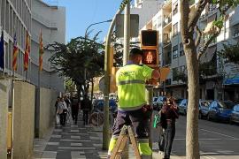 La instalación de los 25 semáforos paritarios de Vila cuesta 5.942 euros