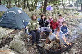 Doscientas familias pasan las vacaciones de Pascua en las zonas de acampada de Lluc