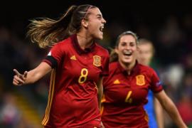 La mallorquina Patri Guijarro da el triunfo a España en el minuto 91
