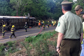 Al menos 11 muertos y 20 heridos en el accidente de un autobús en el sur de Chile