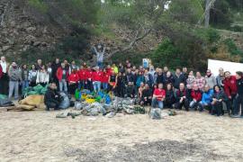 La campaña de limpieza del litoral de Calvià retira más de 5 toneladas de residuos