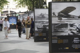 Una exposición en el Borne de Palma celebra los 50 años del aeropuerto