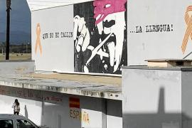 La derecha acuerda borrar las pintadas españolistas y catalanistas del instituto de Santa Margalida