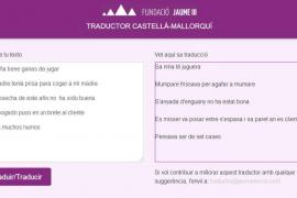 40.000 usuarios emplean el traductor de castellano a mallorquín de la Fundació Jaume III