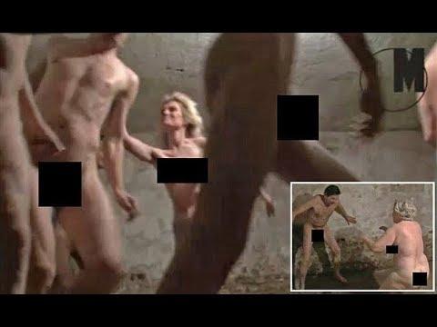 Polémica por las imágenes de un juego con personas desnudas en una cámara de gas de un antiguo campo de concentración