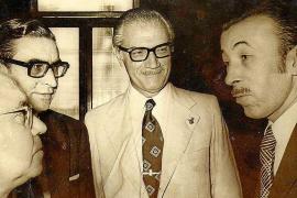 Gabriel Tous, el alcalde Rafael de la Rosa y el rector Jorge Carreras.
