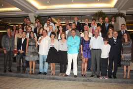 Grupo de mallorquines desplazados a Cancún