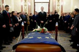 El Rey, el Gobierno y los partidos despiden a Manuel Marín en el Congreso