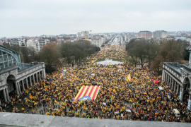 Multitudinaria marcha independentista en Bruselas