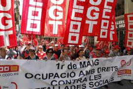 Los sindicatos mayoritarios pierden capacidad de movilización en el 1 de Mayo