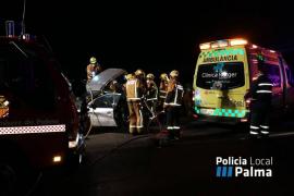 Fallece una mujer en un accidente en la autopista de Llucmajor