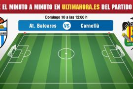 Atlético Baleares-Cornellà, en vivo