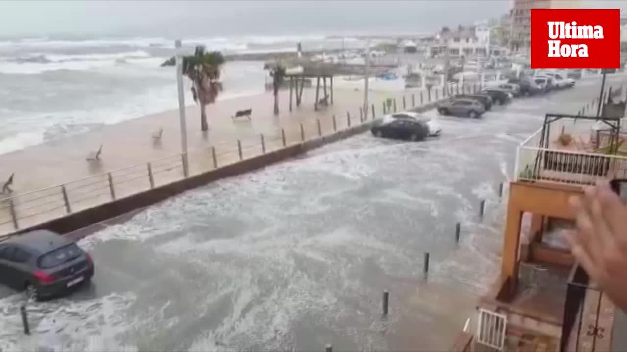 La borrasca Ana deja una lluvia de incidentes en Baleares