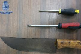 Detenido un hombre que amenazó con un machete a varias personas en Palma