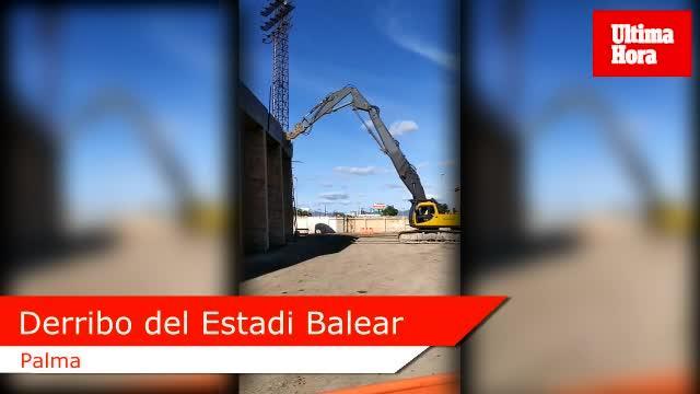 Arranca la fase de derribos en el Estadi Balear