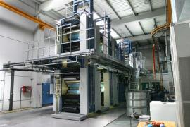La rotativa KBA de la planta impresora, inaugurada en 2002