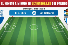 Ebro-Atlético Baleares, en vivo