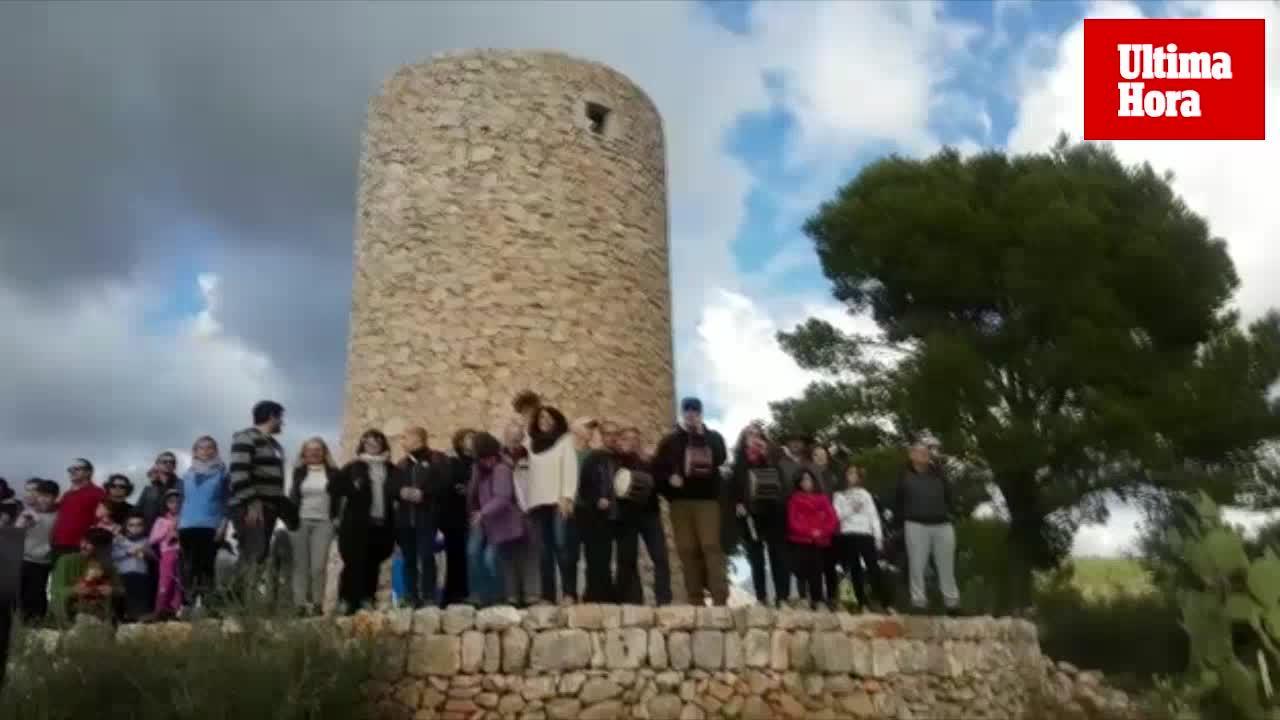 VII Pujada al Molí des Castellet de Calvià por su protección