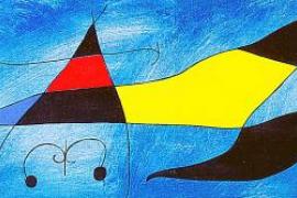Vendido por casi 3,5 millones de euros un lienzo que Miró dedicó a su nieto Emili
