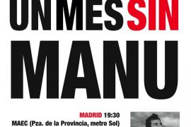 Cartel en favor de la liberación de Manu Brabo
