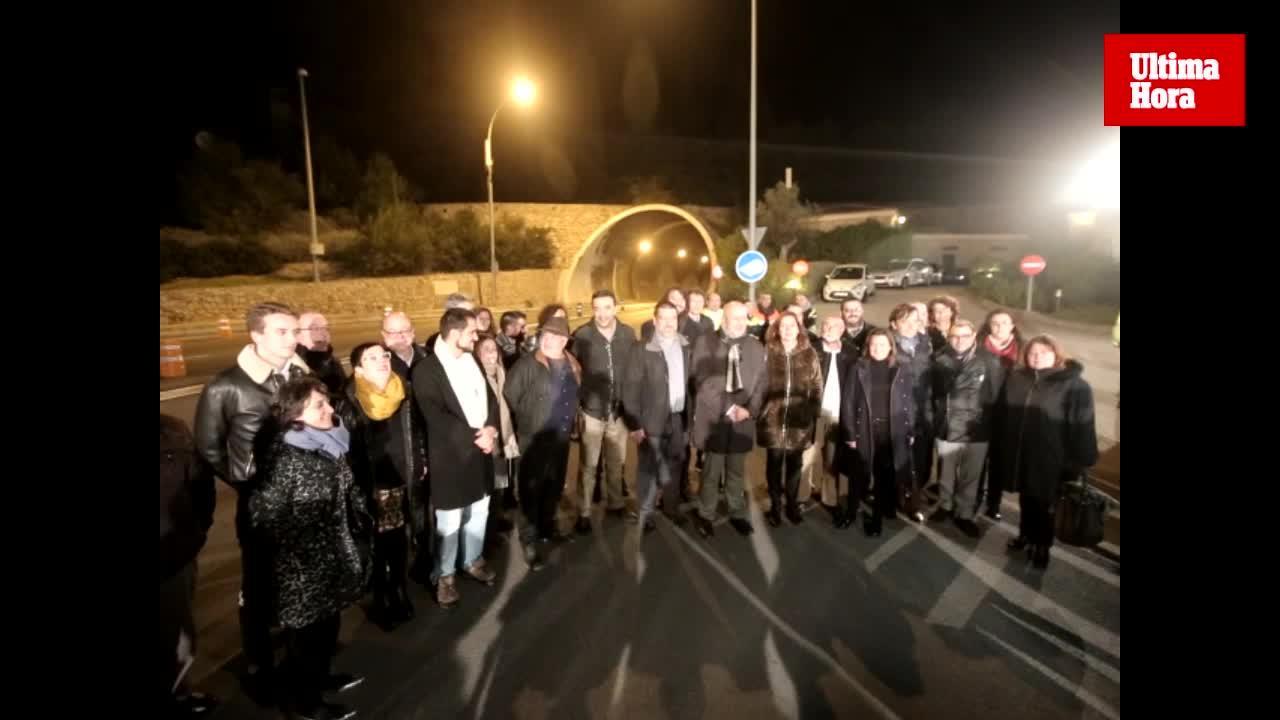 Consell y Govern escenifican la supresión del peaje del túnel de Sóller