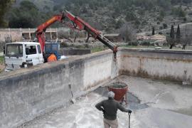 La finca de Galatzó recupera su sistema hidráulico con reparación de aljibe