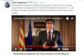 El mensaje de Puigdemont desde Bruselas y a través de las redes sociales