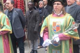 Entre los presentes, el alcalde de Alaró, Guillem Balboa.
