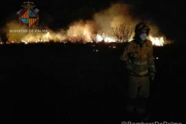 Los bomberos intervienen en un incendio agrícola en la carretera de Manacor