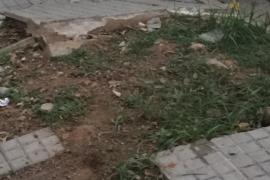 Aceras peligrosas en el Molinar