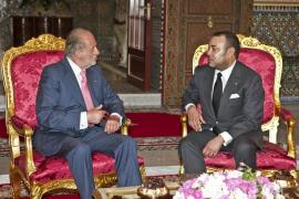 Mohamed VI recibe en Marrakech al Rey Juan Carlos cinco años después de su último encuentro