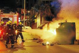 Fuego y vandalismo en s'Arenal