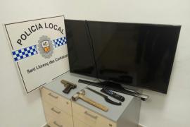 La Policía Local de Sant Llorenç intercepta a cuatro sospechosos en Son Carrió