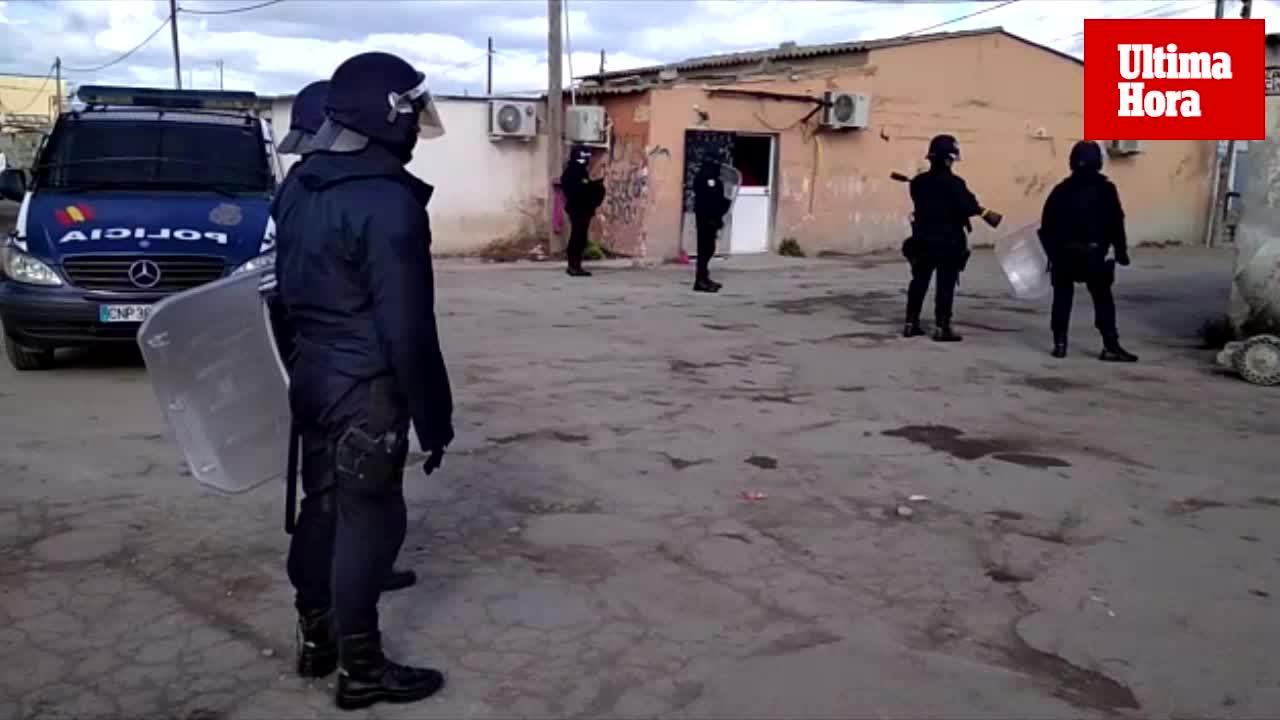 La operación antidroga en Son Banya deja 15 detenidos, entre ellos 4 menores