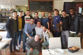 Jugadores del Athletic Club visitan Andratx